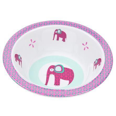 LÄSSIG Schüssel Wildlife Elephant pink Melamin mit Silikon
