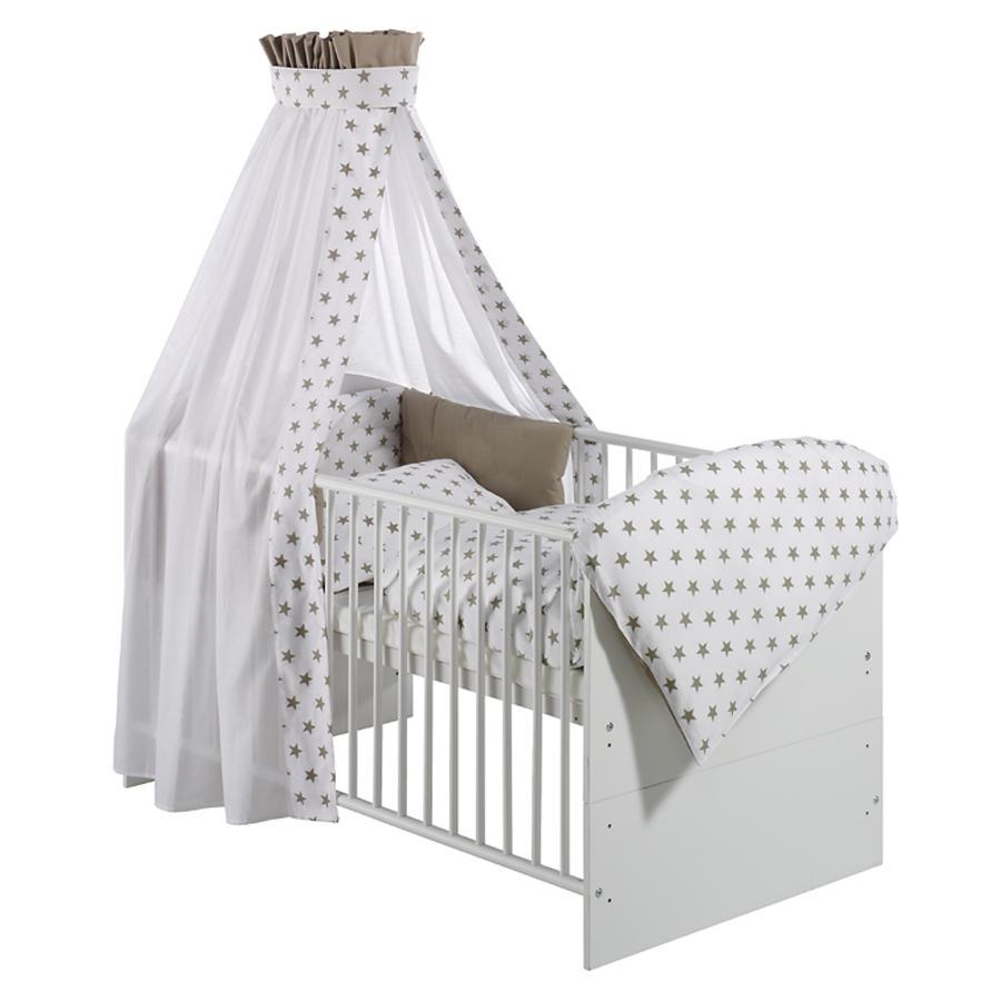 Schardt Parure de lit enfant 4 pièces Big Stars beige 40x60/100x135 cm
