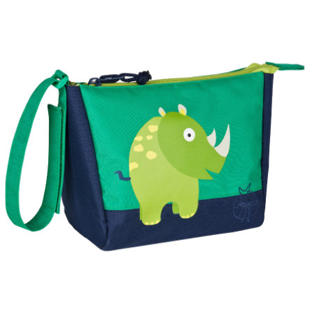 LÄSSIG Mini Trousse de toilette Washbag Wildlife Rhinocéros