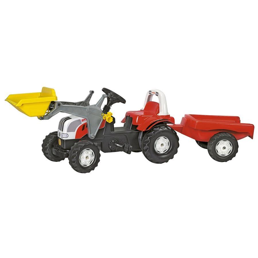 ROLLY TOYS šlapací traktor Steyr 6190 CVT s čelním nakladačem a přívěsem ROLLY TOYS