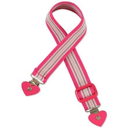 Playshoes Elastisk Belte Hjerte-Clip stripet rosa