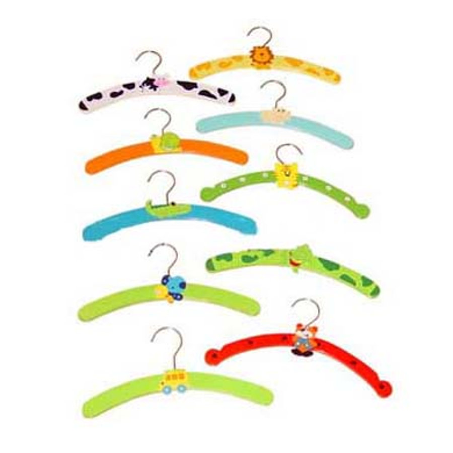 BIECO Wooden Hanger Colorful