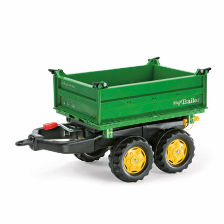 ROLLY TOYS Rimorchio rollyMega Trailer JD 122004, verde