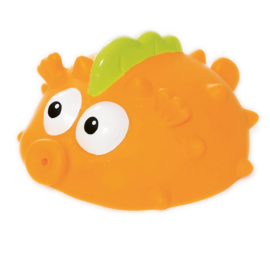 TEDDYKOMPANIET Ted in Tub- Super Squirter, Fisk, orange 14cm