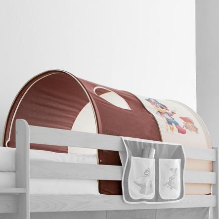 TICAA tunel na patrové a dvoulůžkové patrové postele pirát hnědý/béžový