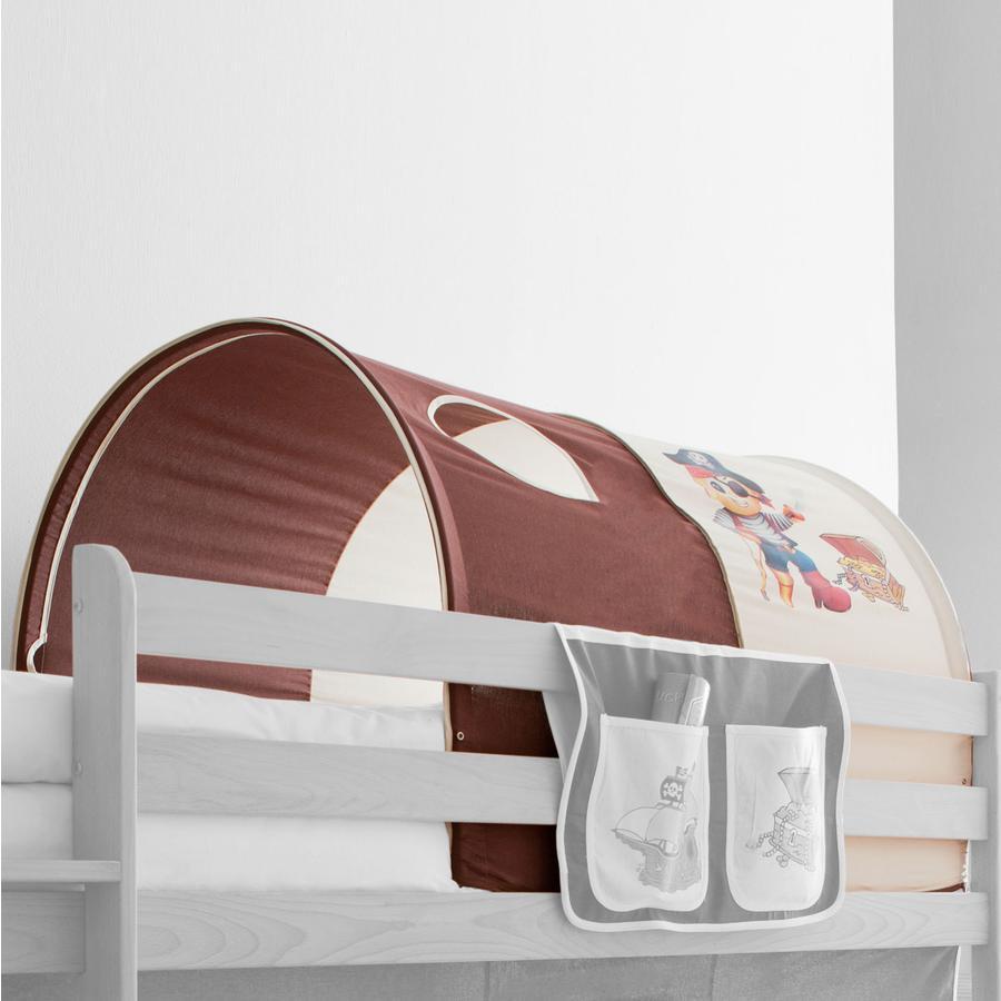 TICAA Tunnel  pour lits surélevés et superposés Pirate marron beige