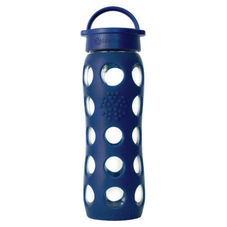 LIFEFACTORY Lasinen juomapullo, 650 ml, Midnight Blue