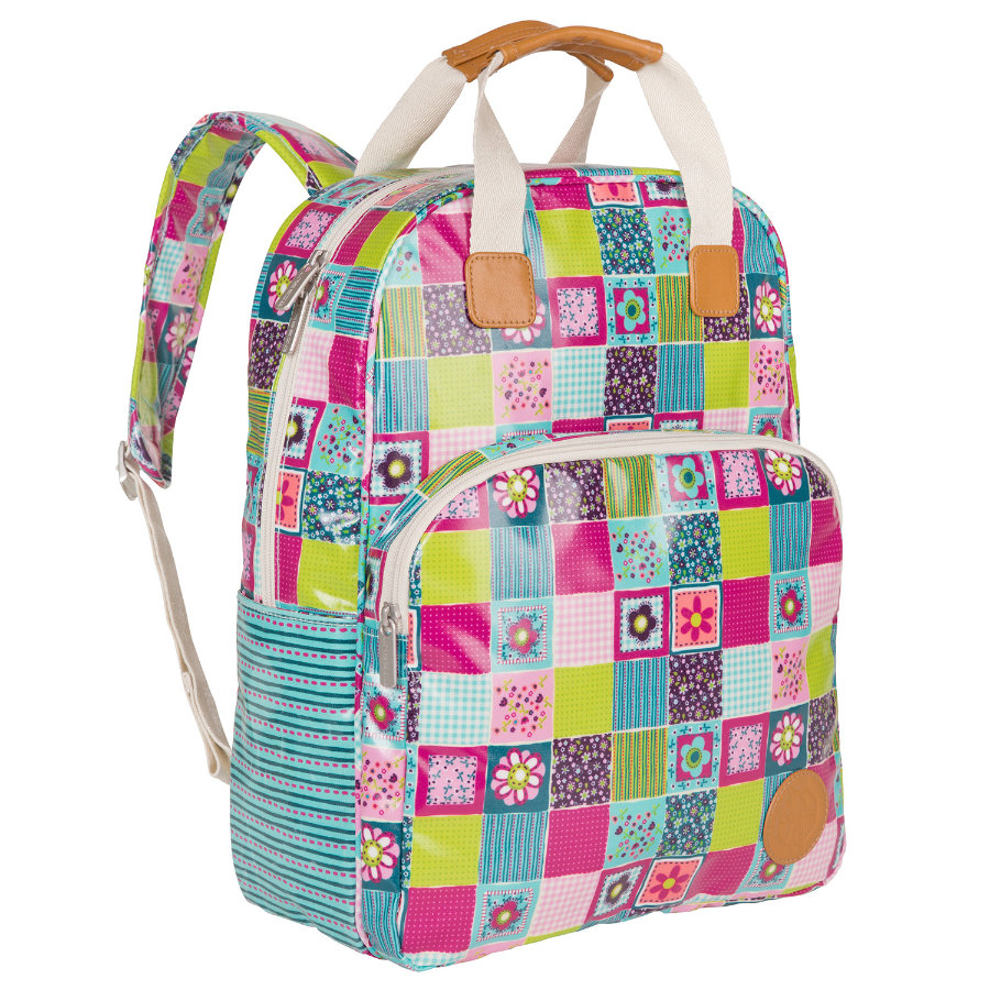 LÄSSIG Vintage Backpack Flower Quilt