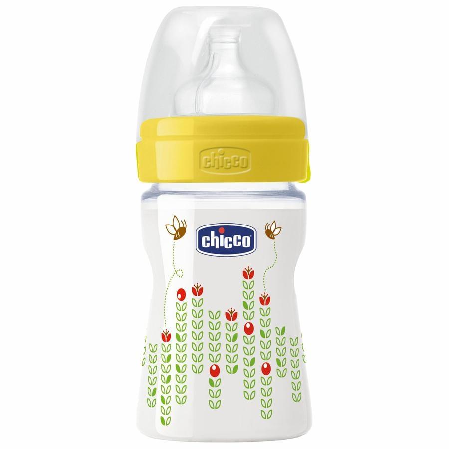 CHICCO Wohlbefinden Babyfläschchen 150ml 0m+ Silikon
