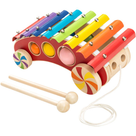 BIECO Xylophone à tirer en bois