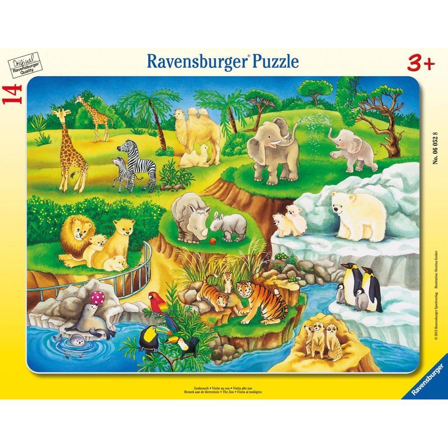RAVENSBURGER Puzzle cadres - Visite au zoo 06052