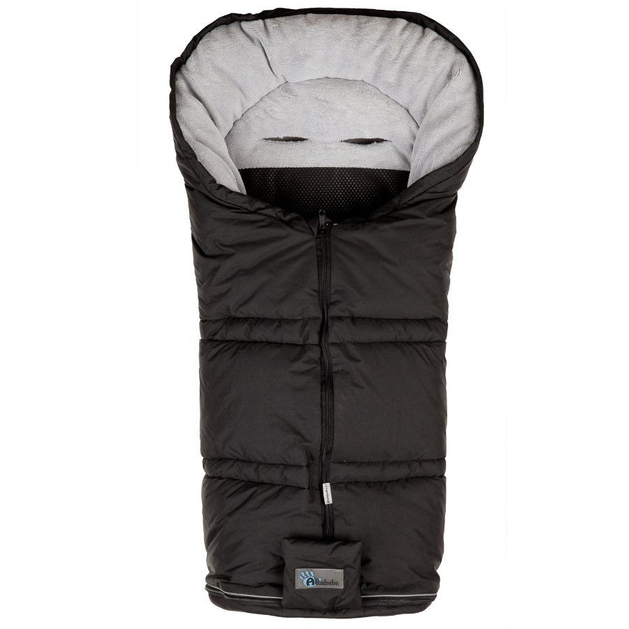 ALTA BÉBE Winter Footmuff Climate Guard (AL2278sx12) SympaTex, black/light grey - Black Fede 2013/2014 collection