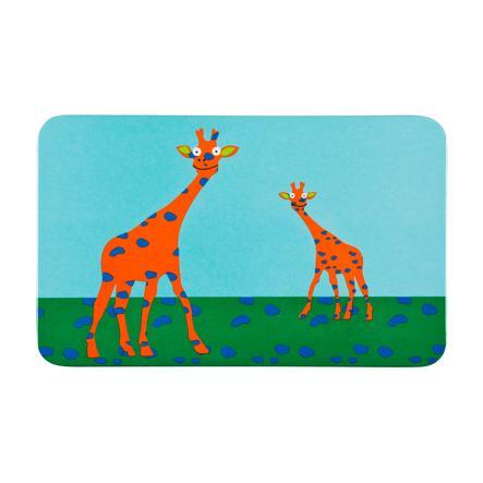 LÄSSIG Frühstücksbrett Wildlife Giraffe blau