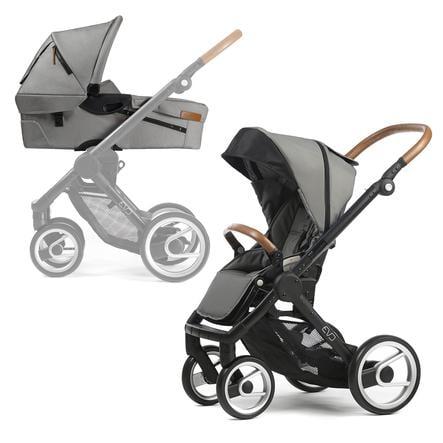 Mutsy EVO Kombi-Kinderwagen komplett Black/Light Grey URBAN NOMAD Edition