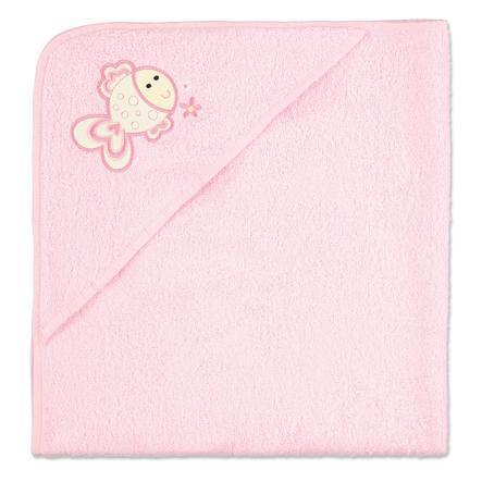pink or blue Capuchonhanddoek badstof roze