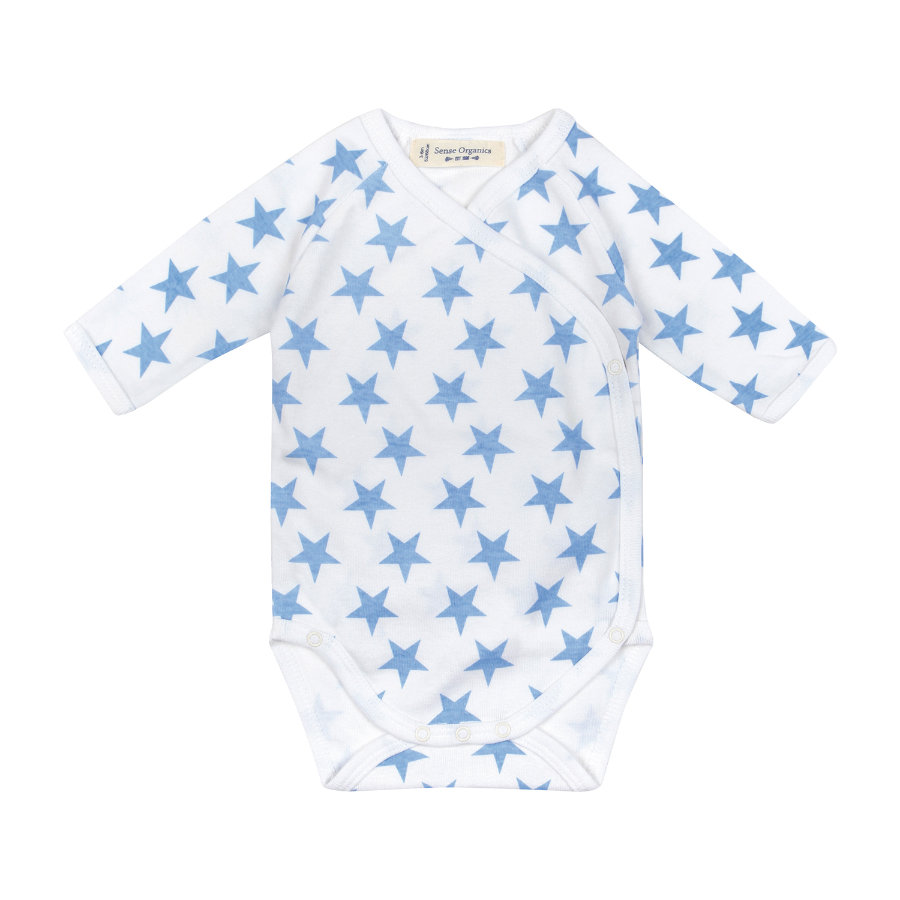 SENSE ORGANICS Boys Baby Romper YGON blue stars