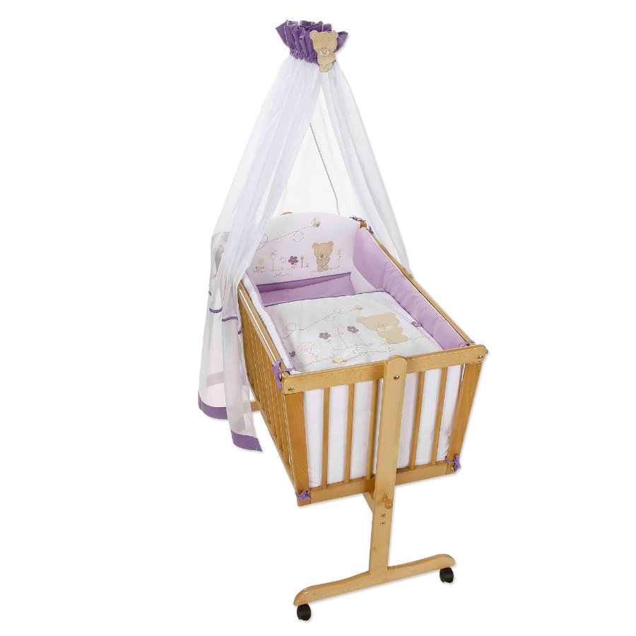 Easy Baby Set för Vagga -  Honey bear lila (480-40)