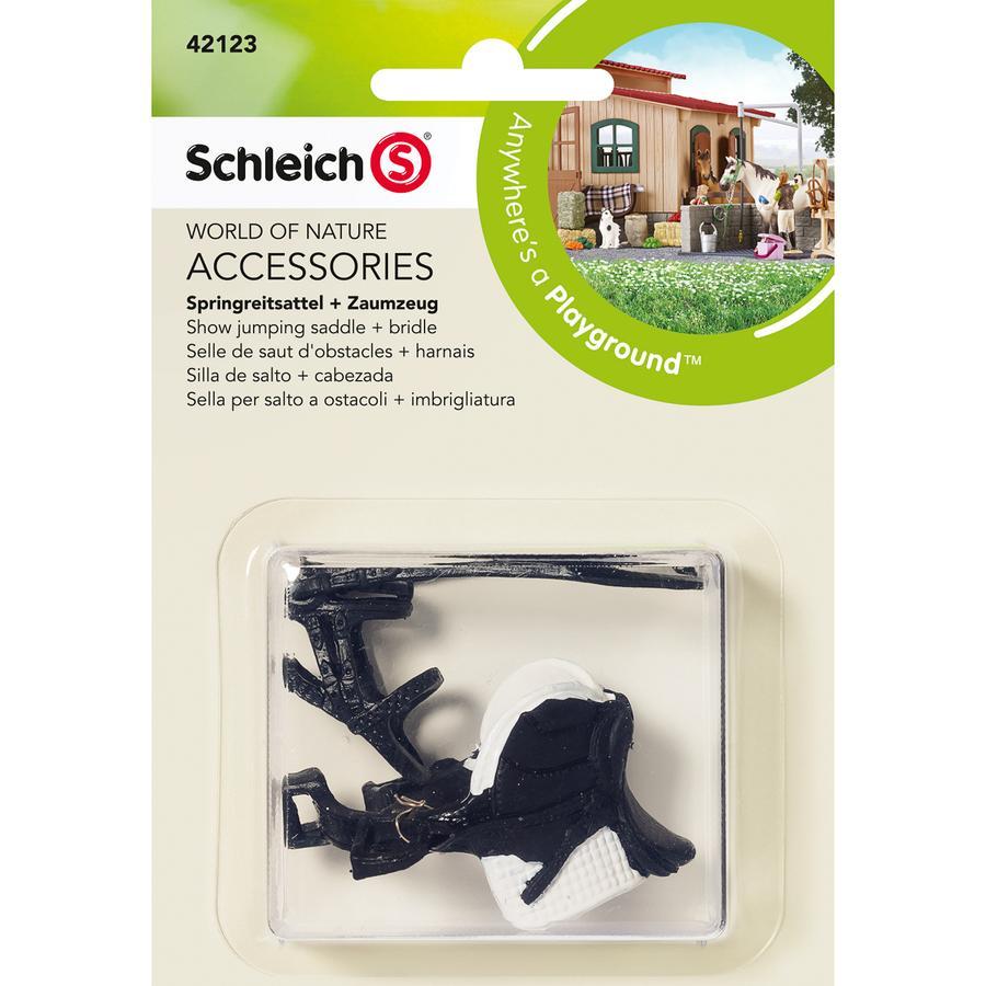 SCHLEICH springsadel + hovedtøj 42123