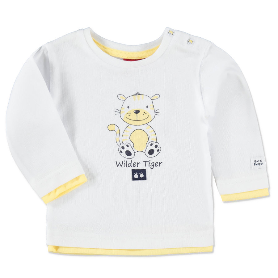 SALT AND PEPPER Boys Baby Longsleeve white