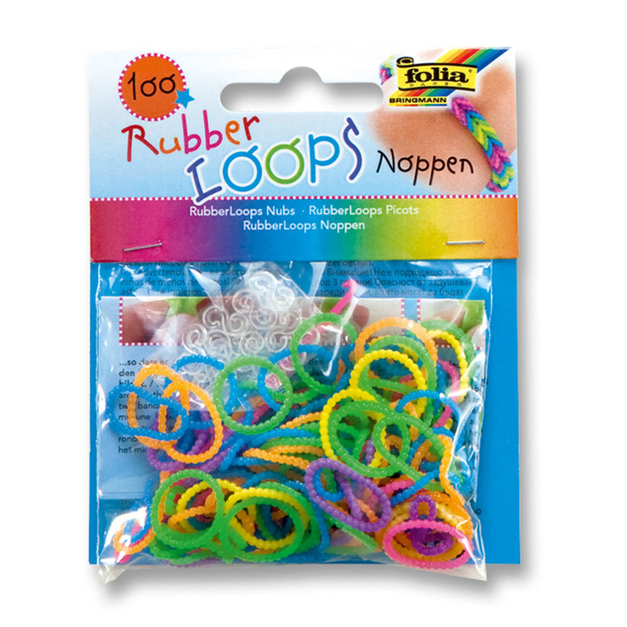 FOLIA Rubber Loops® - Noppen neon