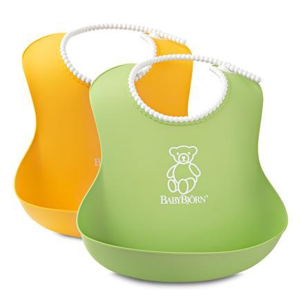 BABYBJÖRN Mjuk haklapp 2-pack gul/grön