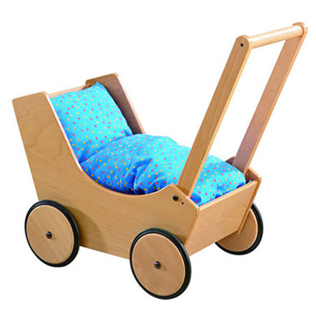 HABA Doll Pram 1624 natural beech wood