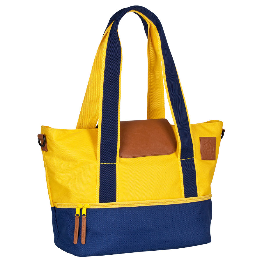 LÄSSIG Sac à langer Vintage Carry-All Bag navy/yellow