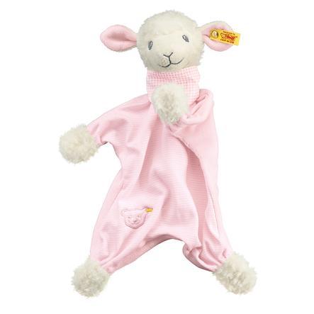 Steiff Slaap Lekker Lammetje Knuffeldoek 30cm, roze