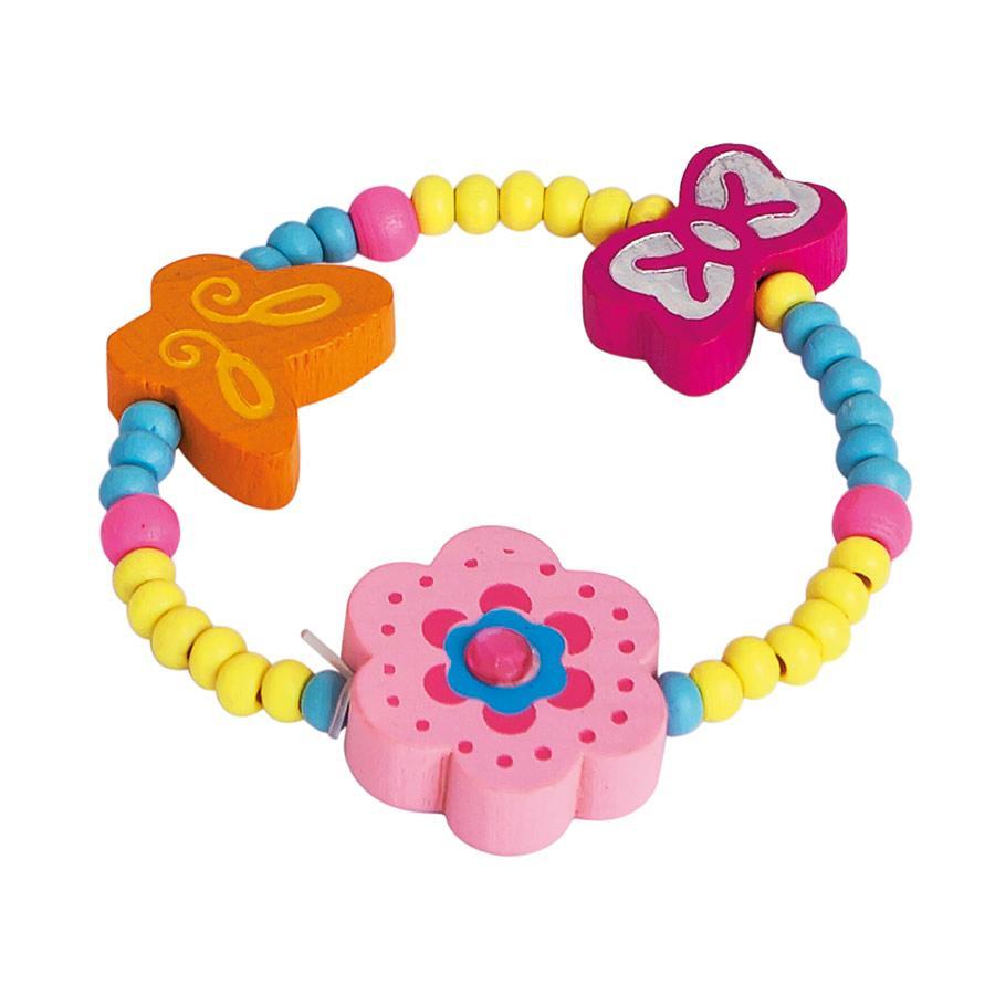 BINO Armband, blomma, rosa