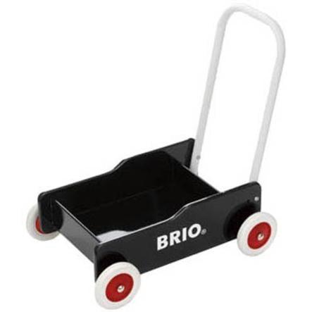 BRIO Wózek-pchacz do nauki chodzenia, kolor czarny