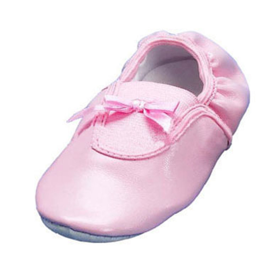 PLAYSHOES Ballerina Pink Shoes with Leather Sole and Bow