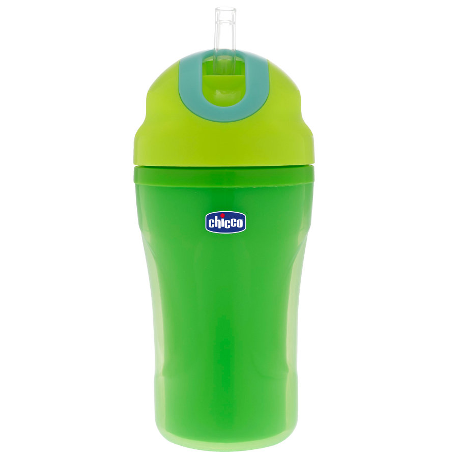 CHICCO Training Bottle with Straw 18+ months green