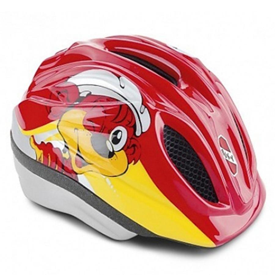 PUKY Casco PH1 per bicicletta, colore giallo/rosso, Taglia: XS
