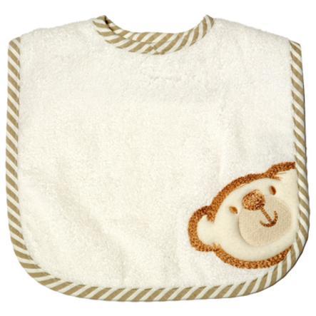 BeBes Collection Bavoir bébé autoagrippant Big Willi beige