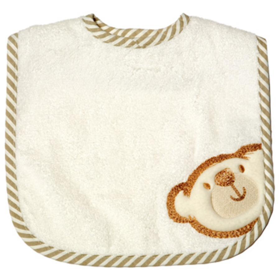 BeBes Collection Bavoir bébé à scratch Big Willi beige