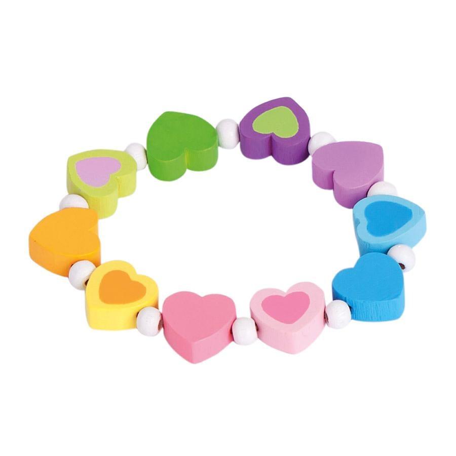 BINO Armband regenboog, hart