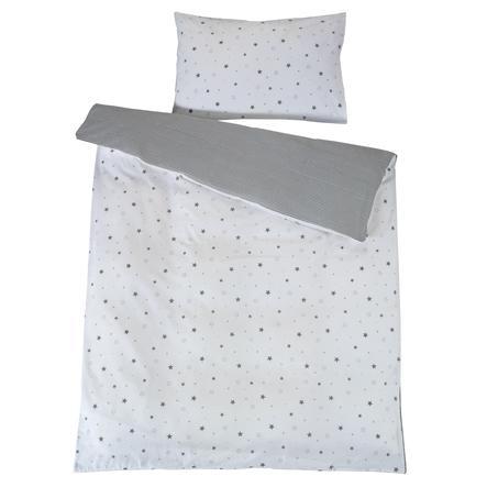 Schardt ropa de cama reversible 2 piezas 100 x 135 cm star grey