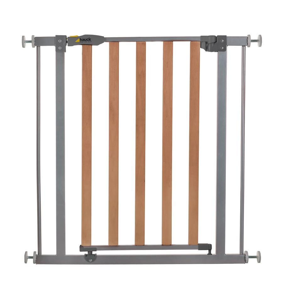hauck Türschutzgitter Wood Lock Safety Gate silver