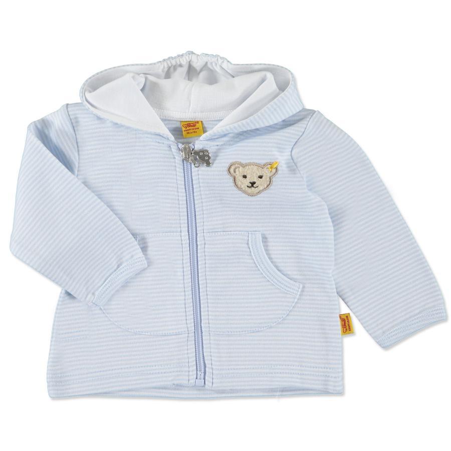 Steiff Chaqueta Sweat Jacket para bebé, azul claro