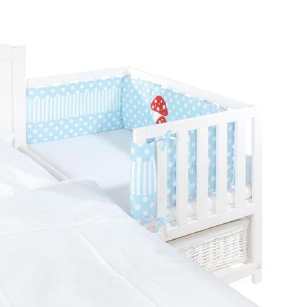 Pinolino Tour de lit cododo champignon porte-bonheur, bleu clair 200x28 cm