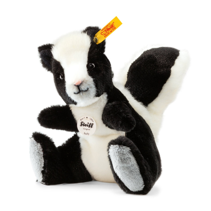 STEIFF Sniffy Skunk, black/white, 15 cm