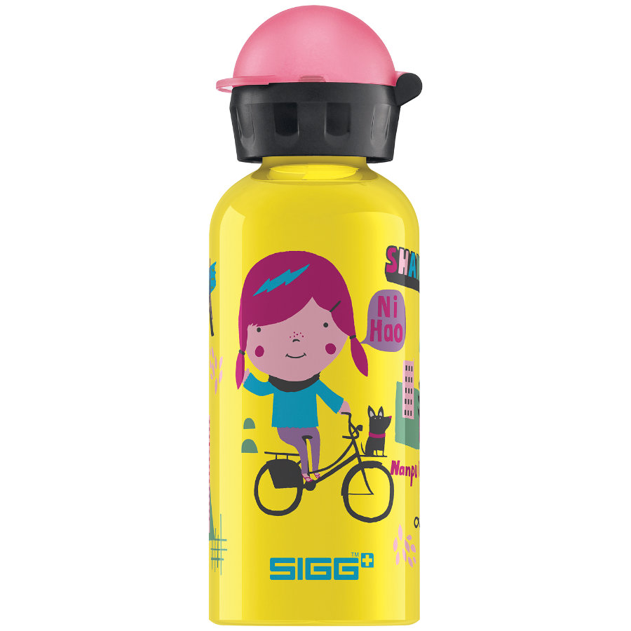 SIGG Trinkflasche 0,4l Design Travel Girl Shanghai
