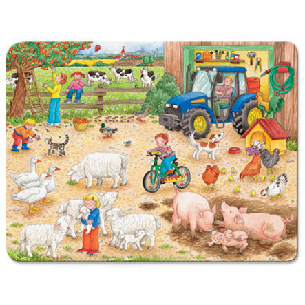 RAVENSBURGER Frame puzzle On the Big Farm, 40 pcs.
