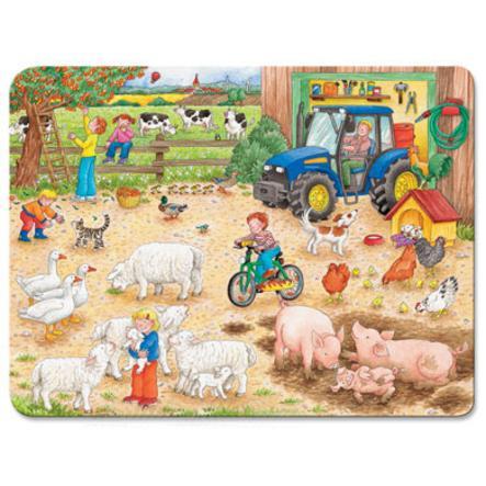 RAVENSBURGER Rám puzzle - na velké farmě, 40 dílů