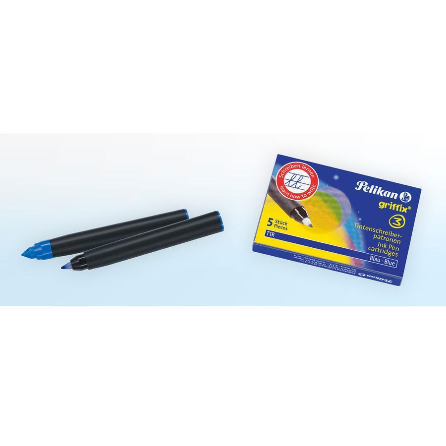PELIKAN griffix® Patronen für Tintenschreiber,T1R blau, 5 Stk.