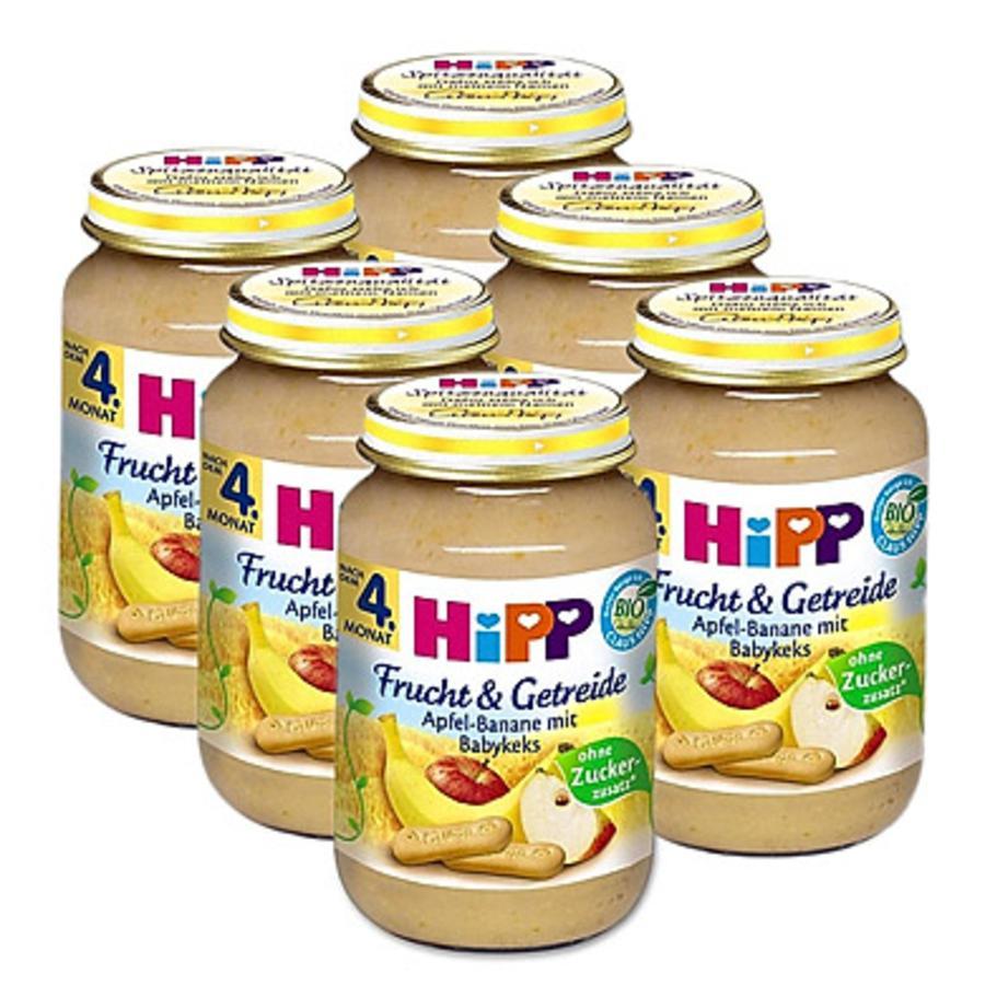 HiPP Bio Frucht & Getreide Apfel Banane mit Babykeks 6 x 190 g