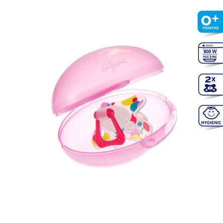 DIFRAX Boîte de stérilisation pour sucettes rose