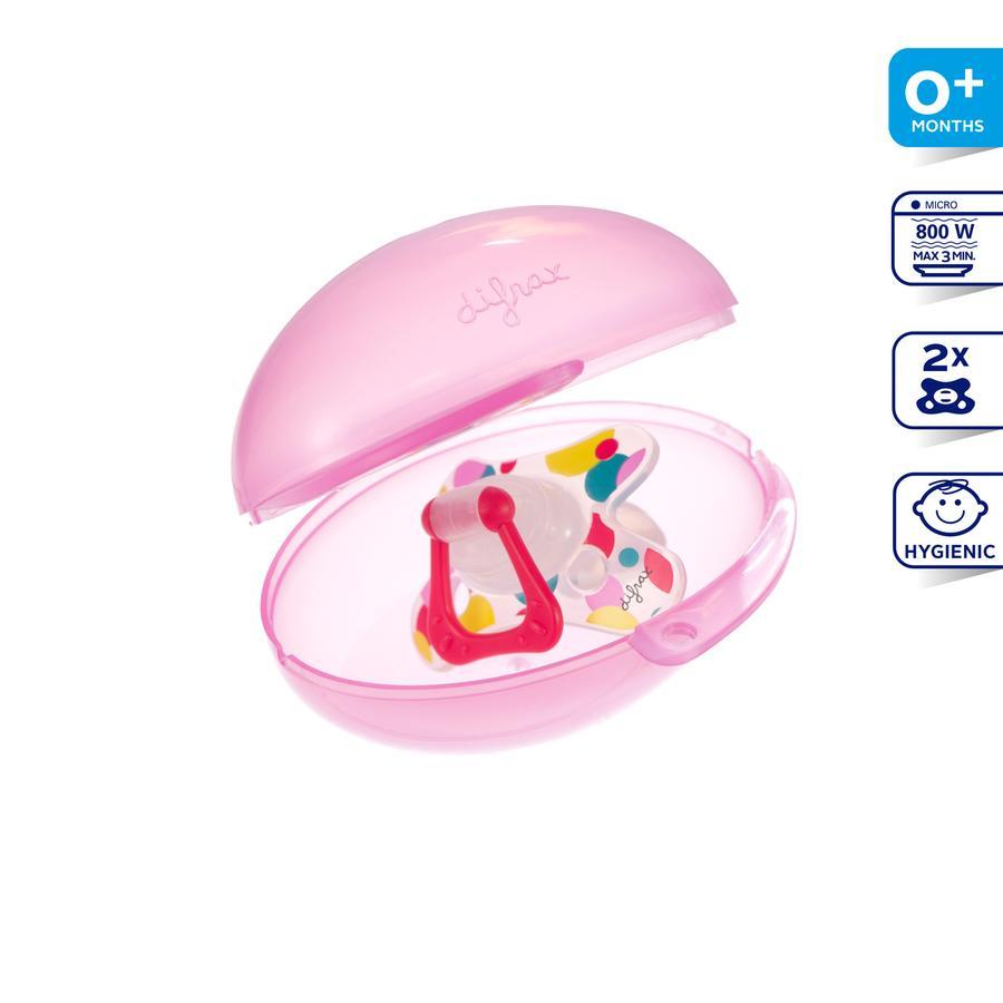 DIFRAX Sterilní krabička na dudlík, růžová