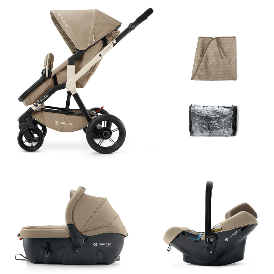 CONCORD Buggy Wanderer Travel-Set Almond Beige