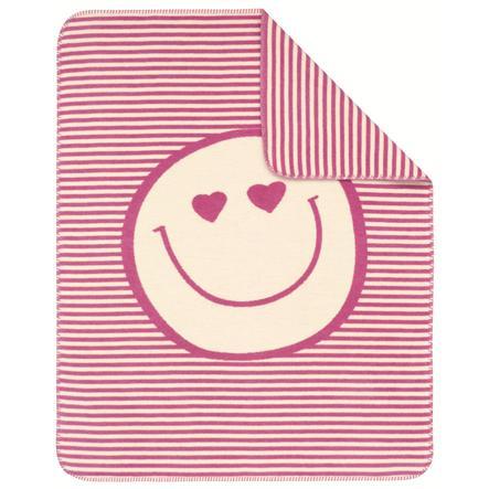 s.OLIVER Kocyk żakardowy Smily 75x100 cm - kolor różowy